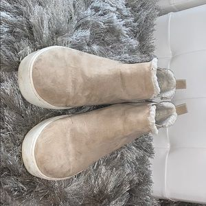 Tan high top sneakers from H&M
